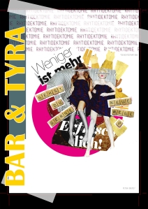 collages about the contextual paradox in lifestyle magazines.