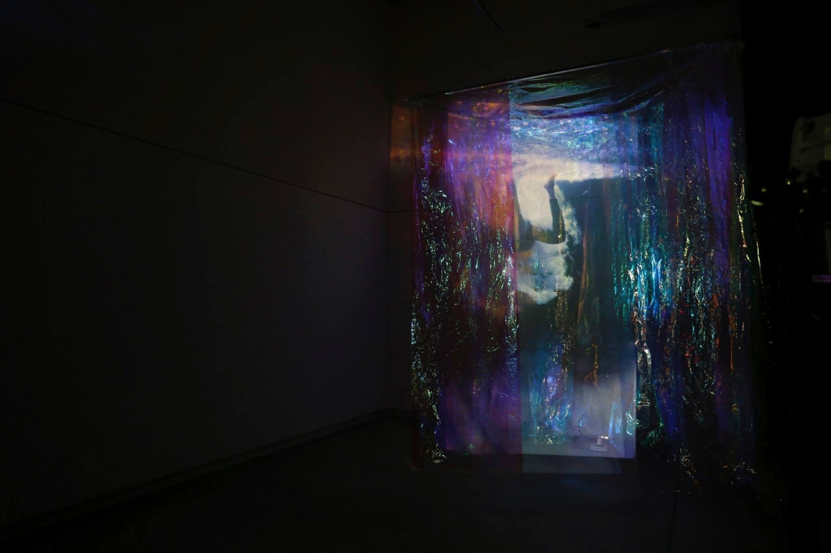 3d music video, light installation, drowning and rising again, wind and reflection programming.